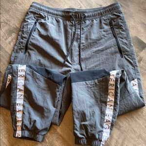 Men's Small Grey and Black American Eagle Joggers